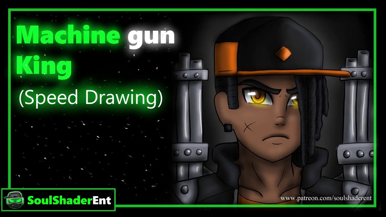 ❇️Machine Gun King Speed Drawing