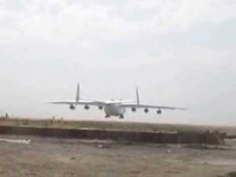 Antonov 225 The largest transport aircraft in the world is landing in Kabul Afghanistan