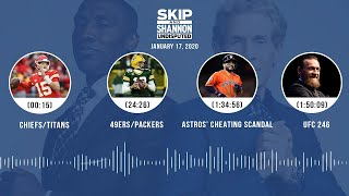 Download Chiefs/Titans, 49ers/Packers, Astros, UFC 246 (1.17.20) | UNDISPUTED Audio Podcast Mp3 and Videos