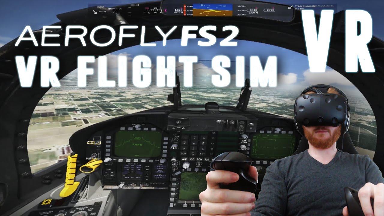 Aerofly FS 2: VR flight simulator gameplay on HTC Vive with x52 Pro HOTAS