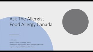 Webinar: Ask the allergist with Dr. Julia Upton