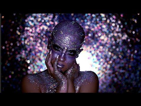 Halloween Look | Jewel Encrusted Extraterrestrial -- NICOLE GUERRIERO