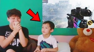 4 Year Old Baby Hits Call of Duty Trickshot