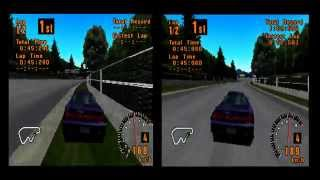 Gran Turismo 1 Graphics compare - Smoothing OFF VS Smoothing ON - PS3 CECHC04