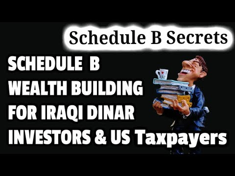 Building Schedule B Wealth for Iraqi Dinar Investors  OffShore Investments