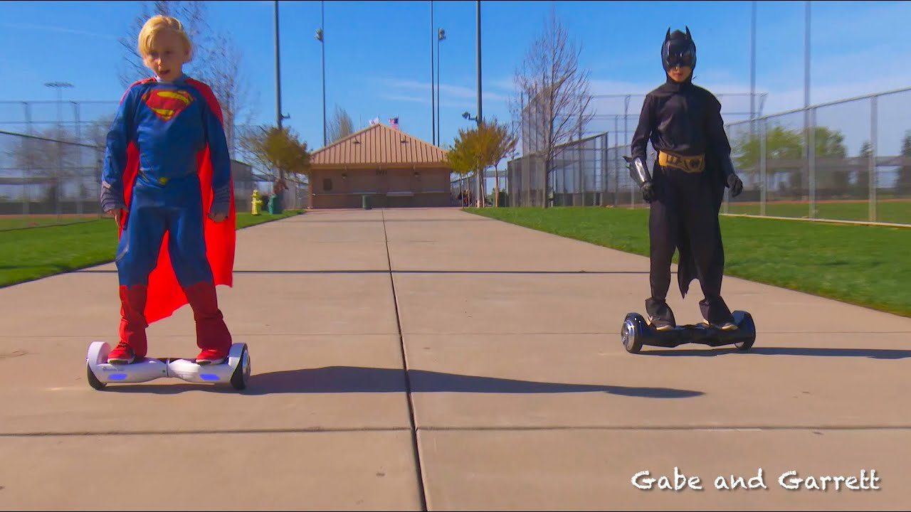 Alienwheels Hoverboard And Segway Challenge Race Batman Vs Superman Alienboard Batwings And B1