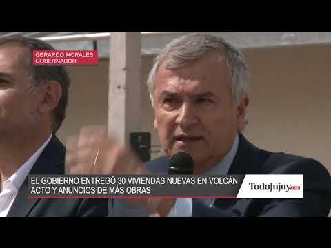 El Gobierno entregó 30 viviendas nuevas en Volcán
