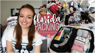 PACK WITH ME: FLORIDA EDITION 2018 ✈️ | WALT DISNEY WORLD & UNIVERSAL STUDIOS!