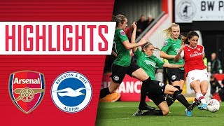 Arsenal Women 4-0 Brighton & Hove Albion | Goals and highlights