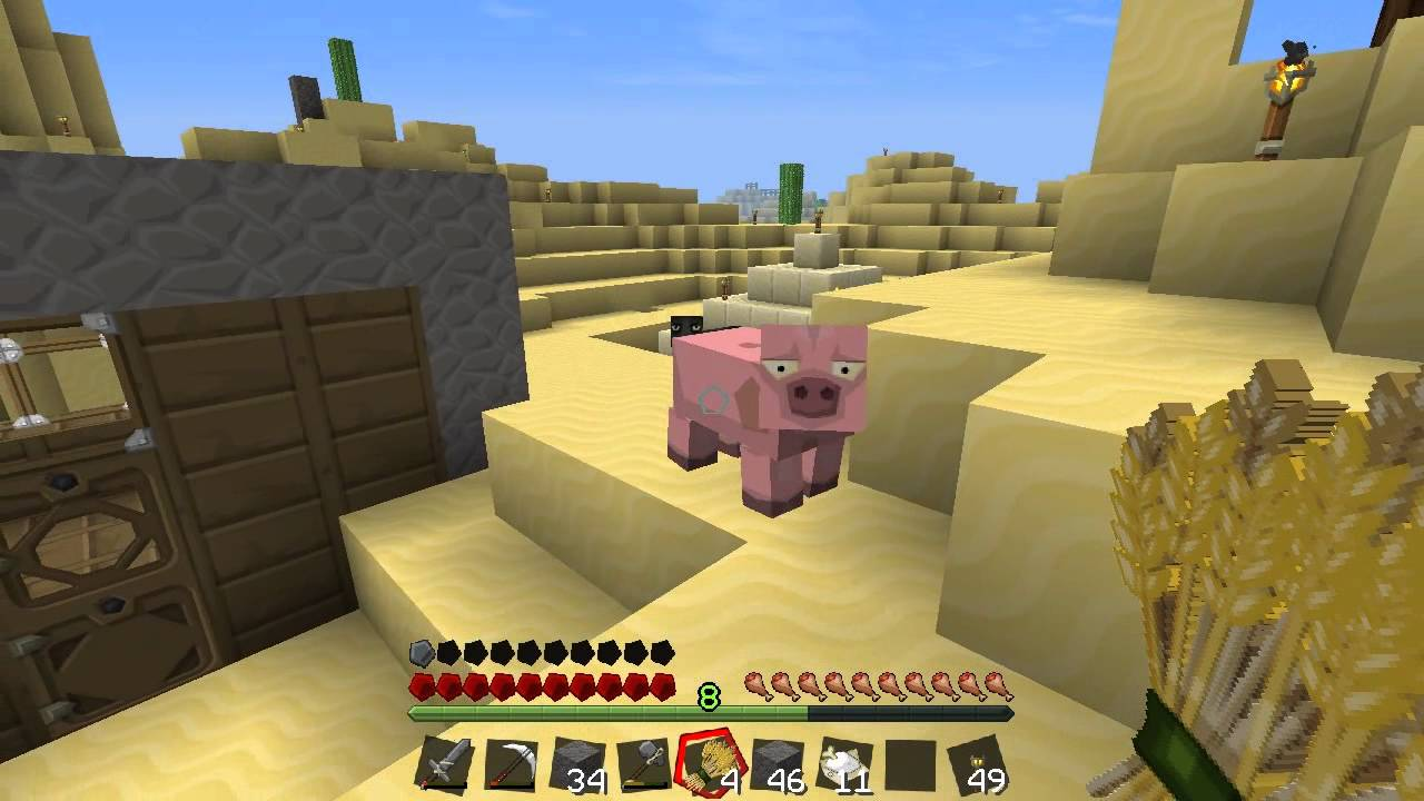 MINECRAFT DESERT OASIS Save The Animals Ep07 Survival Lets Play YouTube
