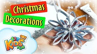 DIY by Creative Mom🎄 4 how to make christmas holiday decorationsa star shaped ornament 123 kids fun