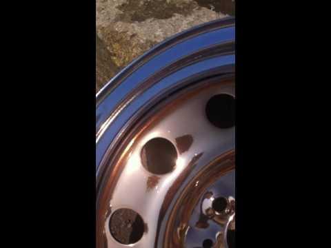 Хромированный позолоченный штампованный диск
