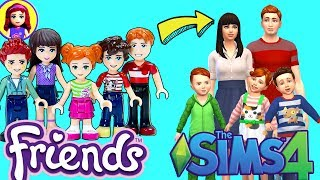 Sophie, Henry and the Triplets as Sims! Sims 4 Dress Up Lego Friends in Create-a-Sim CAS