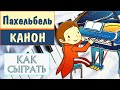 How To Play Canon In D Piano Tutorial Как сыграть Канон ре мажор Пахельбеля на фортепиано mp3