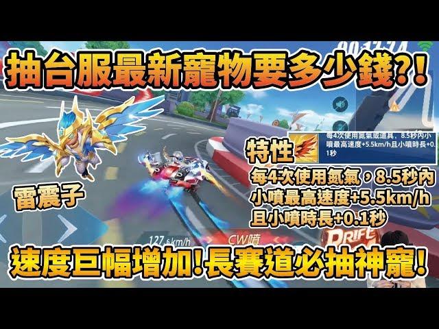 【小草Yue】實測抽最新寵物『雷震子』多少錢?長賽道必用神寵!使用四次氮氣速度巨幅增加!【極速領域】