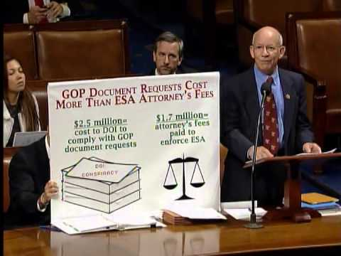 Download Ranking Member DeFazio: GOP doc requests cost more than ESA attorney fees