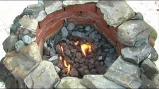 How to Make a Gas Fire Pit From Scratch