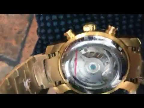 1e56cb4b32a Relogio Automatico Bullgari Luxo Iron Man Dourado Promocao - YouTube