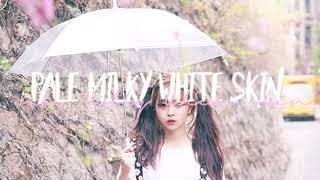 Pale milky white skin share