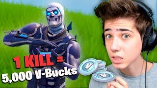 Child gets PRO KILL 5,000 V-Bucks in Fortnite!