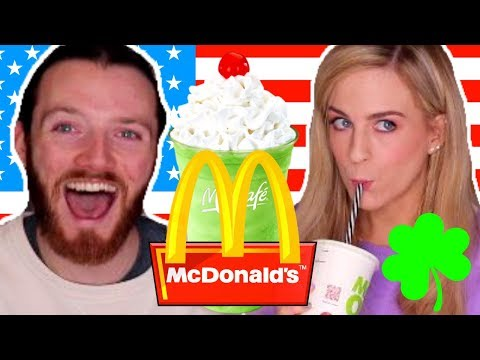 Irish People Try McDonalds Shamrock Shakes For the First Time