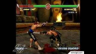 Mortal Kombat: Deadly Alliance GameCube Gameplay - Johnny