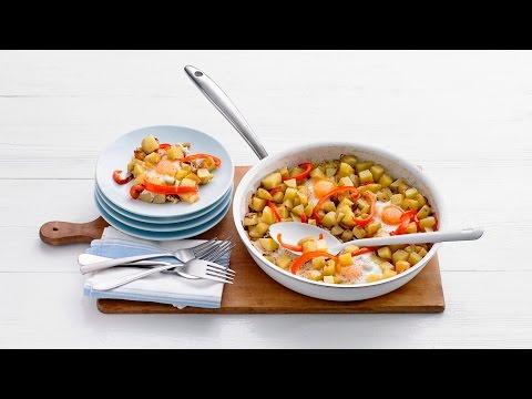 Hashbrown met paprika en eieren – Allerhande