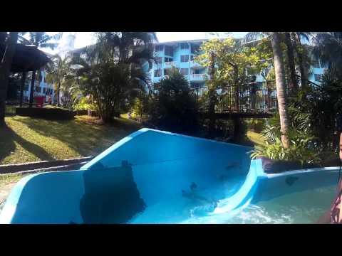 [SJCAM SJ4000 WiFi] Long Slide at Water Park of Lotus Desaru Beach Resort (Best GoPro Alternative)