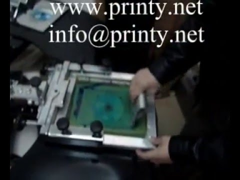 CD Manual 1~5 Color Screen Printer With Uv Curing System,CD Multi-color Silk Screen Printing Machine
