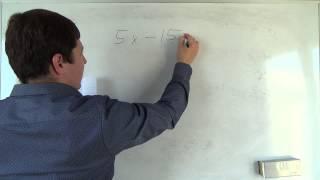 Алгебра 7 класс. 12 сентября. Решение линейных уравнений #2