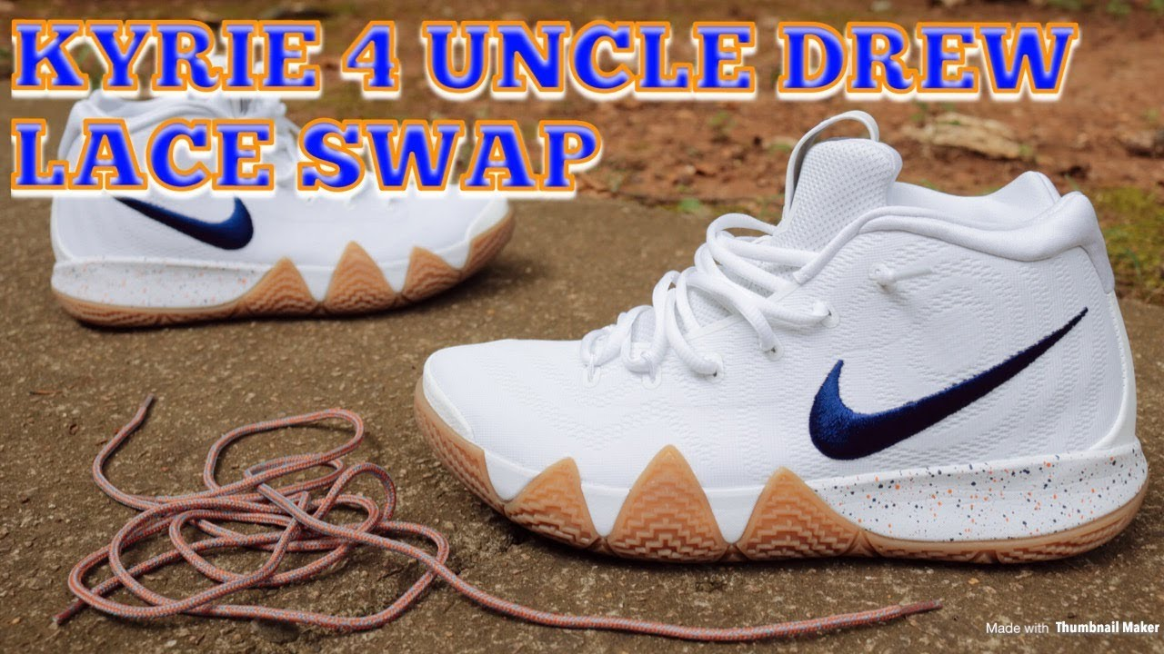 a3d78128f89 Lace Swap - Nike Kyrie 4 Uncle Drew - Laces Via DMG Laces - YouTube