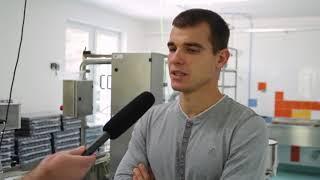 Michal Krčmář  na návštěvě plnírny Vincentka