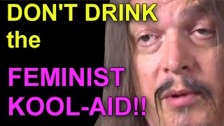 Aronra drinks the feminist coolaid