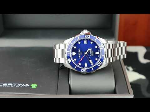 Certina DS Action Precidrive 41mm Blue Dial
