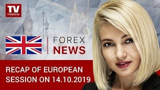 InstaForex tv news: 14.10.2019: Euro and pound come under pressure (EUR, USD, GBP)