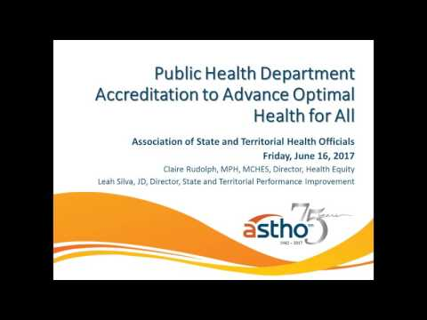 Public Health Department Accreditation to Advance Optimal Health for All