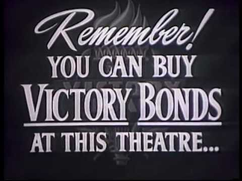 WWII Victory Bonds Movie Ad - The Shared Cost of Freedom and Democracy