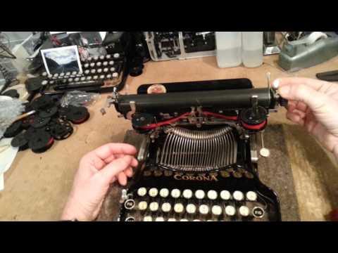 Corona Folding typewriter - shipping tips