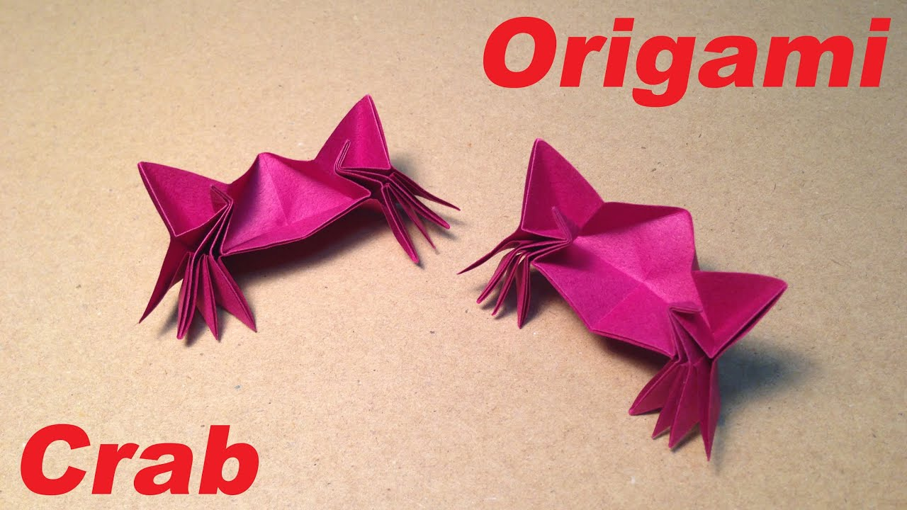 origami crab instructions tutorial youtube