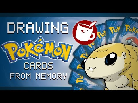 Drawing Pokémon From Memory: Trading Card Game Edition