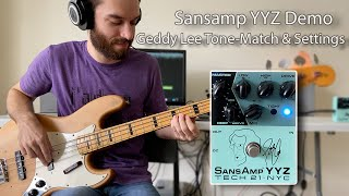 Tech 21 YYZ Sansamp Pedal Demo - Rush Tone Match & Settings