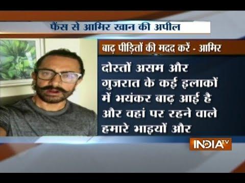 Aamir Khan urges fans to help flood-stricken Assam, Gujarat