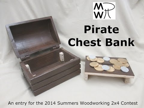 11 - 2x4 Pirate Chest Bank - Manhattan Wood Project