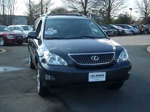 used 2007 lexus rx 350 for sale in charlotte nc lake norman chrysler jeep dodge youtube. Black Bedroom Furniture Sets. Home Design Ideas