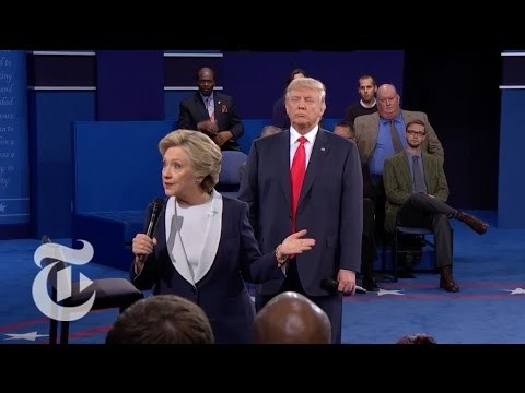Trump's Looming Onstage Presence in Presidential Debate   Election 2016   The New York Times