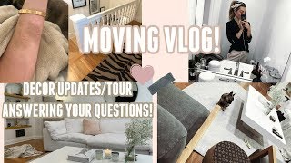 FINALLY SETTLING IN! NO BOXES TOUR! & MORE! MOVING VLOG 2! | Lauren Elizabeth