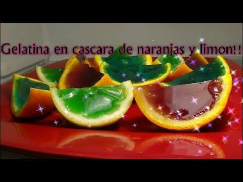 Gelatina en cascara de naranja y limon youtube - Cascara de limon ...