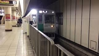 京都市営地下鉄烏丸線 10系更新車 急行奈良行き 京都発車