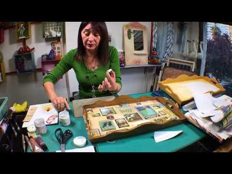 La Tienda de Dina Valencia   S02E57 Decoupage con Papeles de regalo