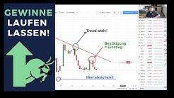 Gewinne laufen lassen und Verluste begrenzen - Forex Traden lernen im Live Webinar